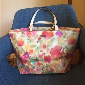 Kate Spade patent leather floral tote